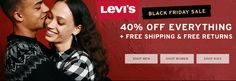 Black Friday Sale! Take 40% #Off everything + Free Shipping  Store : #Levis Scope: Entire Store Coupon Code : #HOLIDAY40  Ends On : 11/28/2016    Get more deals: http://www.geoqpons.com/Levis-coupon-codes  Get our Android mobile App: https://play.google.com/store/apps/details?id=com.mm.views    Get our iOS mobile App: https://itunes.apple.com/us/app/geoqpons-local-coupons-discounts/id397729759?mt=8