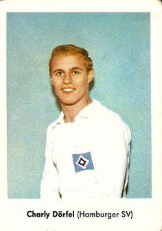 Charly Dorfel of Hamburg SV in Hamburger Sv, Football, Baseball Cards, 1960s, Sports, Nostalgia, Parking Space, Remember This, Soccer