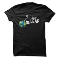 ONE GIANT LEAP T-Shirts, Hoodies. CHECK PRICE ==► https://www.sunfrog.com/Automotive/ONE-GIANT-LEAP.html?id=41382