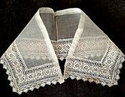 1920s Vintage Irish Crochet Lace Organdy Dress Collar