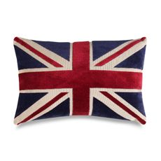 """Union Jack 20"""" Decorative Toss Pillow - Bed Bath & Beyond   $24.99- bought this for my British boyfriend for Xmas. He loved it!!"""