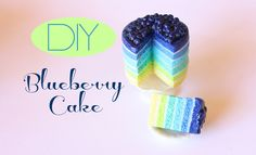 Miniature blueberry cake made from polymer clay. -Toni Ellison