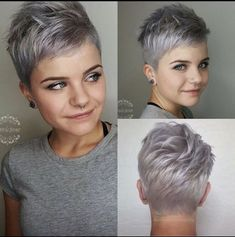 Short hair cuts, short hair styles, short pixie haircuts, cute hairstyles f Super Short Hair, Short Grey Hair, Short Hair Cuts For Women, Short Hairstyles For Women, Short Pixie Haircuts, Pixie Hairstyles, Cool Hairstyles, Hairstyle Ideas, Pixie Haircut For Round Faces