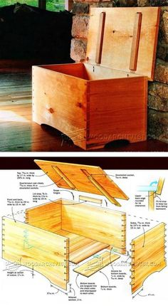 Blanket Chest Plan - Furniture Plans and Projects - Woodwork, Woodworking, Woodworking Plans, Woodworking Projects Wood Projects For Beginners, Easy Wood Projects, Woodworking Projects That Sell, Woodworking Workshop, Diy Woodworking, Furniture Projects, Furniture Plans, Blanket Chest, Wood Plans