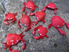 Крабы из ракушек - Сайт для мам малышей