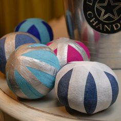 find little trinkets to put inside these crepe paper balls... the fun is in the opening!