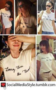 """Buy Lea Michele, Brie Larson, Jordana Brewster, Alison Brie, and Camilla Belle's """"Long Live The Beach"""" T-Shirt, here!"""