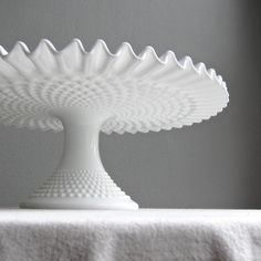 Vintage Hobnail Milk Glass Wedding Cake by BarkingSandsVintage, $110.00