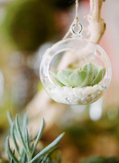 mini tealight terrarium