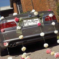 """Autoschmuck für die Hochzeit: Schild """"Just Married"""" - jetzt nachsehen bei weddix.de"""