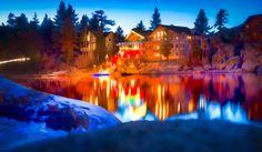 Big Bear Lake, California christmas lights.
