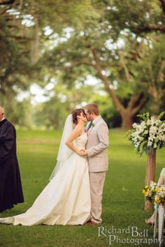 """Saying """"I do"""" underneath the oak trees on the grounds of Legare Waring house is like a dream come true."""