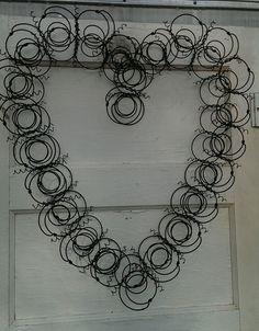 Valentines vintage bed spring wreath