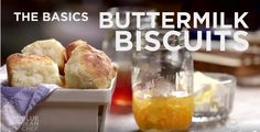 Buttermilk Biscuits   2 1/3 cups SR flour 8 tsp sugar *Stir, Grate in... 1 stick frozen butter *Stir...Grease pan with butter wrapper. Pour in... 1 1/3 cups butter milk *Stir...Dust a cookie sheet lined in parchment paper with... 1 cup flour *Scoop balls of dough into the flour. Gently toss to dust and shape. Place into an 8.5x11 silicone lined cake sheet pan, touching each other. Bake at 425 for 25 minutes. Brush with melted butter.  Bake 5 more minutes.