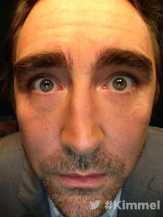 """""""#LeePace being Lee Pace backstage at #JimmyKimmel Live. 12/15/14. He's turning out to be just as silly as #BenedictCumberbatch!  #TheFactsWereThese"""" — :o)"""