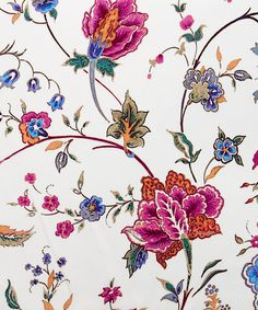 Kirstie C Belgravia Silk Satin | Liberty Art Fabrics | Kirstie is taken from an Oriental tree of life, a print style synonymous with Liberty's history as an Oriental emporium