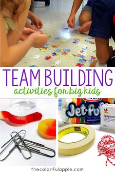 Team-Building Activities for Back to School A great assortment of back to school activities that will get your students thinking and working cooperatively with their peers! The post Team-Building Activities for Back to School appeared first on School Diy. First Day Of School Activities, 1st Day Of School, Beginning Of The School Year, Middle School Activities, Games For School, Back To School Ideas For Teachers, Back To School Crafts For Kids, Starting School, Back To School Teacher