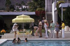 Slim Aarons - Love the yellow pool umbrella!