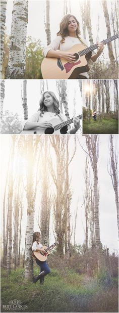 Senior Pictures with Guitar in Fremont Ohio