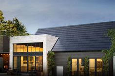 Elon Musk says Tesla's Solar Roof is going global later this year Tesla's Solar Roof has had a rough start. Originally introduced in Oct. the Solar Roof was re-worked several times, and has only gone into wider distribution this year, partially… Solar Energy Panels, Best Solar Panels, Solar Shingles, Luz Solar, Solar Roof Tiles, Solar Projects, Roof Styles, Solar Panel System, Roofing Systems