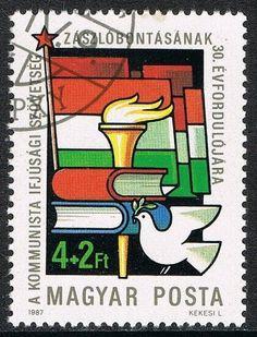 [CF7462] Hungría 1987, XXX Aniv. Organización de Jóvenes Comunistas (CTO) Stamps, Symbols, Ebay, Hungary, Seals, Tourism, Livres, Postage Stamps, Stamp