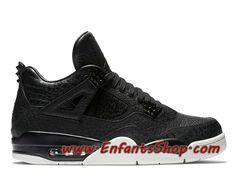 best service 66663 643e3 Air Jordan 4 Retro Premium Pinnacle Chaussures Basket Jordan Pas Cher Pour  Homme Noir 819139-010