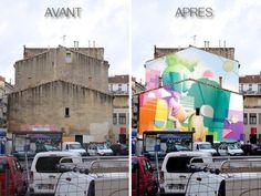 La fresque de Zest, 150 m2 en plein centre de Montpellier