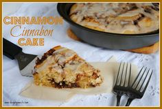 Cinnabon Cake Recipe…i tried today 4/26/12.  Not bad.  I would reduce the amount of butter/cinnamon/sugar mixture.  It doesn't need that much maybe half as much buttter and brown sugar, but entire amount cinnamon.  Good flavor....and easy.  Made 2 nice size cakes.