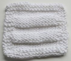 easy knit exfoliating face cloth  I wish I could knit. Someone knit me this!