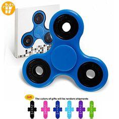 JWBBU Fidget Toys Hand Spinner Finger Spielzeug für Kinder und Erwachsene Spielzeug Geschenke blau ( Drei Winkel Drehung Achse zufällige Farbe)+U-Telefon-support - Fidget spinner (*Partner-Link)