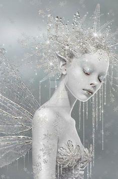 Snow Fairy, Winter Fairy, Ice Queen Costume, Fairy Photoshoot, Fairies Photos, Elves And Fairies, Christmas Fairy, Beautiful Fairies, Snow Queen