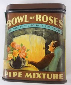 Pocket Tobacco Tin - Bowl of Roses
