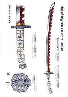 Ninja Weapons, Anime Weapons, Weapons Guns, Fantasy Sword, Fantasy Armor, Fantasy Weapons, Armor Concept, Weapon Concept Art, Katana Swords