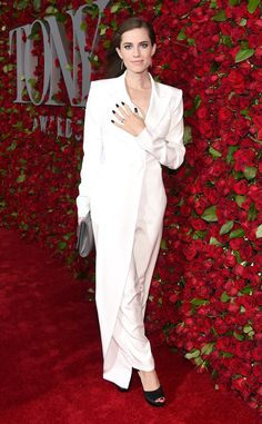 Allison Williams from Tony Awards 2016 Red Carpet Arrivals  The Peter Pan Live! star looks white hot in her ensemble.
