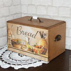 Купить ФРАНЦУЗСКОЕ РЕТРО хлебница - коричневый, кухня, кухонный интерьер, кухонная утварь, кухонные принадлежности