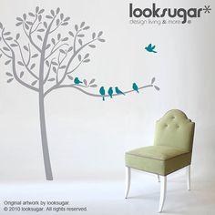 Tree Wall Decals Tree Decals Birds decals  Modern by looksugar, $98.00