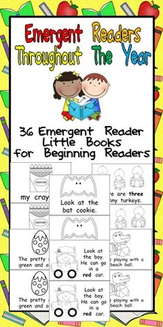 I am always looking for emergent reader little books to use in my classroom; it is so important to give readers books that they can read and. Reading Strategies, Reading Activities, Guided Reading, Teaching Reading, Classroom Activities, Teaching Ideas, Time Activities, Kindergarten Language Arts, Kindergarten Literacy