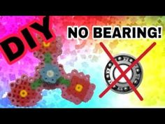 DIY Perler bead Fidget Spinner | NO BEARING!! - YouTube