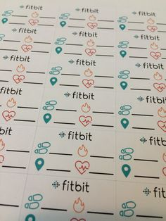 Fitbit Tracker Planner Stickers Set of 35 by BurntOwlStudio