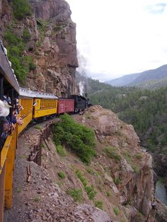 Train ride from Durango to Silverton, Colorado  we did this May 2012  Amazing views.....  it was a cold ride back at dusk