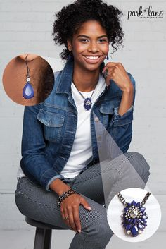 Perfect street style with a pair of jeans! #Parklanejewelry #jewelry #fallfashion