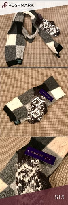 🌲Scarf/mittens 🌲 Colors black/cream/gray RL scarf. Mittens are NWT's . Black/white. Great 🎁. Accessories Scarves & Wraps