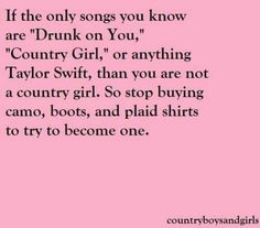 Taylor swift is not country.
