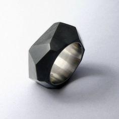 Rock Concrete Ring by 22Designstudio
