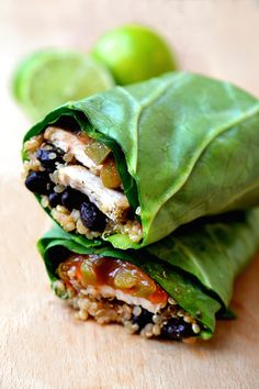 Healthy Collard Greens and Chicken Burrito Recipe                              …
