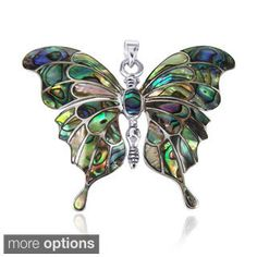Silvertone Blue Crystal Butterfly Brooch - Overstock™ Shopping - Big Discounts on Brooches & Pins