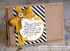 By Teneale Williams | INKspired Sketch #INK012 | Ray of Sunshine Stamp Set Stampin' Up!
