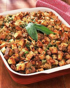 Though this is not one of Weight Watchers Thanksgiving Recipes, it's a FABULOUS stuffing recipe for anyone who needs a delicious low calorie stuffing to put on their table this year! Plus, it's my absolute favorite Thanksgiving recipe because I LOOOOOVE stuffing and I go crazy eating this stuff every year.