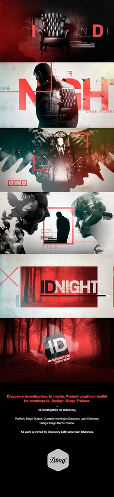 Id Nights on Discovery investigation. on Behance