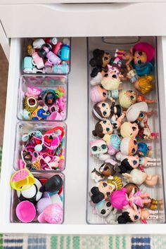 Week three of the Clutter Free Challenge is all about Kid Spaces. Little Girl Toys, Cool Toys For Girls, Baby Girl Toys, Girls Toys, Doll Storage, Lego Storage, Toy Room Organization, Toy Rooms, Kids Room Design